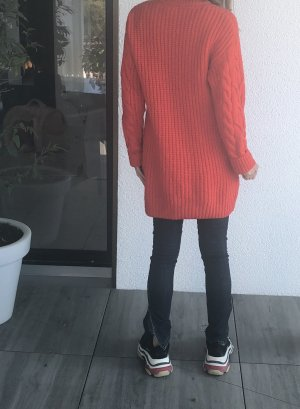H&M Rollkragenpullover Gr. Xs orangerot