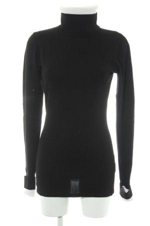 H&M Rollkragenpullover weiß-schwarz Business-Look