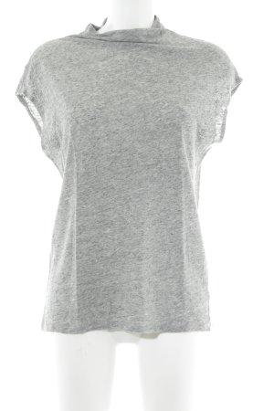 H&M Top à col roulé gris moucheté style décontracté