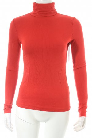 H&M Turtleneck Shirt bright red classic style