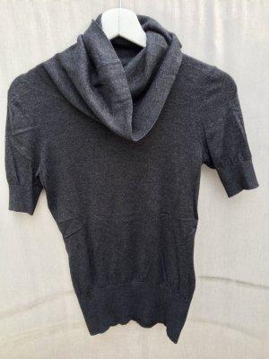H&M Top à col roulé gris anthracite-gris foncé laine angora