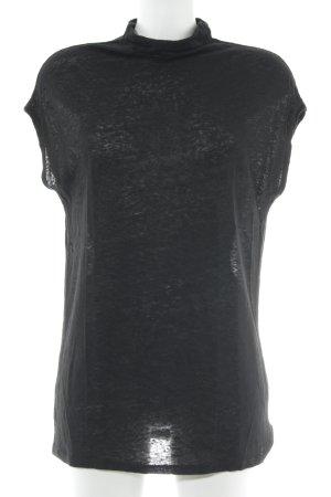 H&M Top à col roulé noir style décontracté