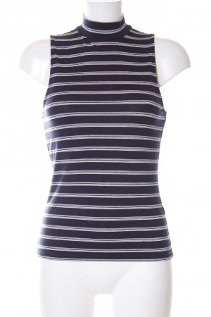 H&M Neckholder Top striped pattern casual look