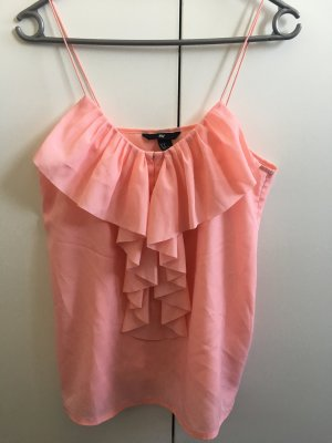 H&M rosa Bluse mit Volants