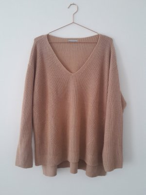 h&m rosa/nude Strickpullover Pullover L oversize V-Ausschnitt arket cos