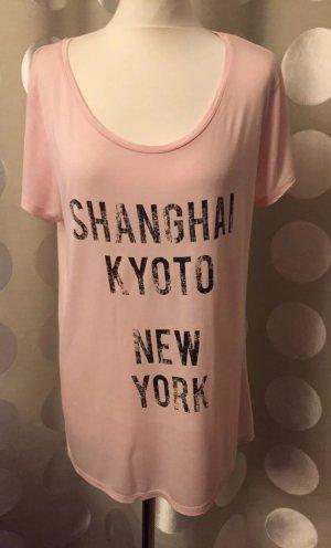 H&M: Rosa Print T-Shirt aus Jersey in Gr. M/40, Neu, Nur 1x getragen