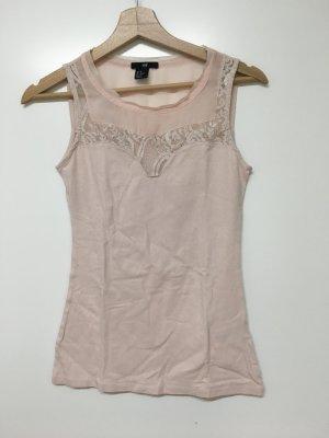 H&M / rosa Top mit Spitzendetail