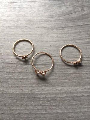 H&M roserote Ringe Stern, Schleife