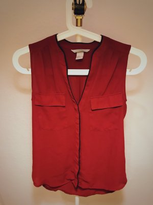 H&M - Rote Bluse, Gr. 34