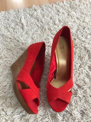 H&M Rote Schuhe, Größe 38