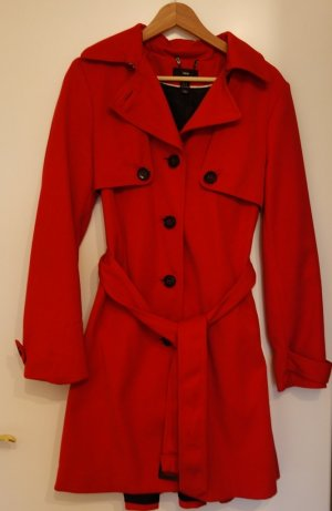 H&M roter Trenchcoat Mantel Gr. 38 (S/M) A-Linie Retro Vintage Chic
