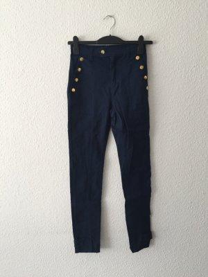 H&M royalblaue High-Waisted Jeans 36