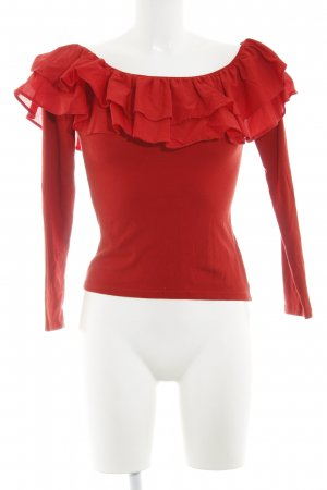 H&M Ruche blouse rood casual uitstraling