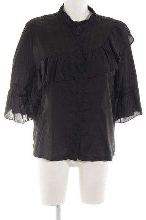 H&M Camicetta con arricciature nero stile casual