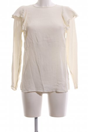 H&M Ruffled Blouse natural white casual look