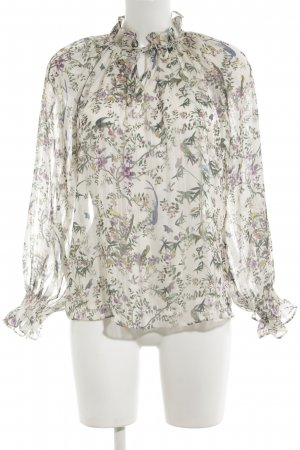 H&M Rüschen-Bluse Animalmuster Casual-Look