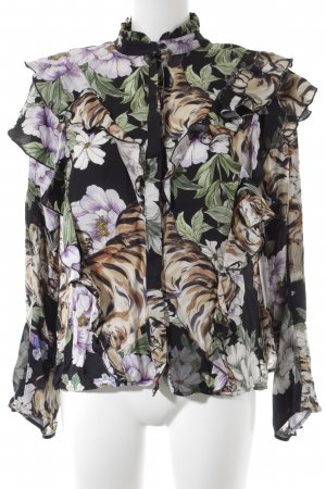 H&M Ruche blouse bloemenprint Paris-Look
