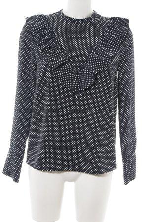 H&M Rüschen-Bluse schwarz Punktemuster Business-Look