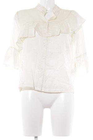 H&M Rüschen-Bluse creme Romantik-Look