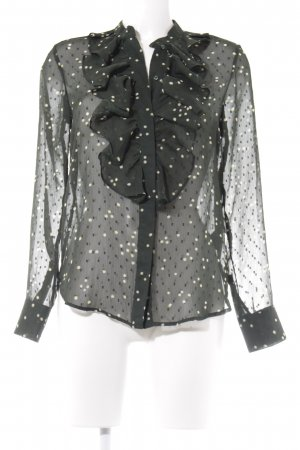 H&M Ruche blouse gestippeld patroon romantische stijl