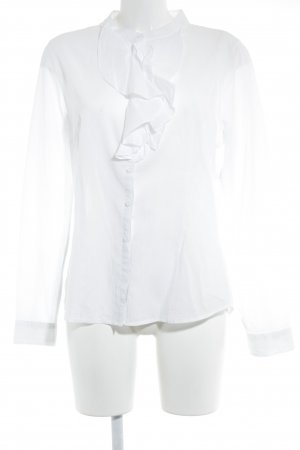 H&M Ruffled Blouse white business style