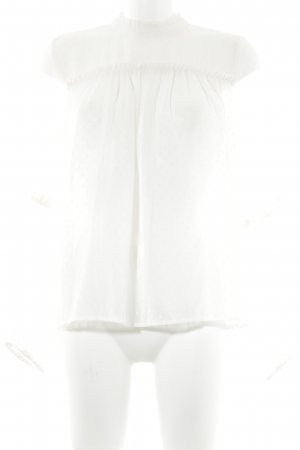 H&M Ruffled Blouse natural white abstract pattern elegant