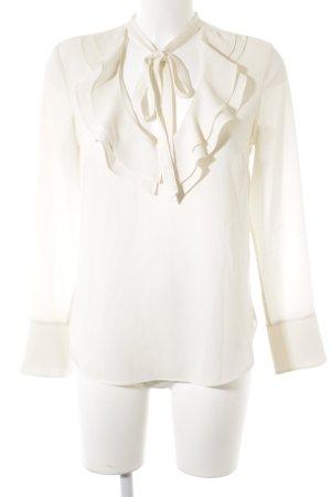 H&M Ruffled Blouse natural white elegant