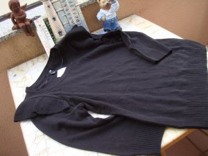 H&M Maglione di lana nero Tessuto misto
