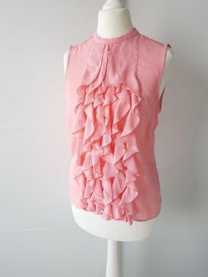 H&M Rüschen-Top, Gr.34, rosa/lachsfarben