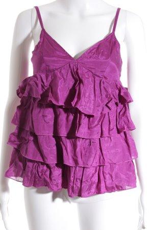 H&M Rüschentop purpur klassischer Stil