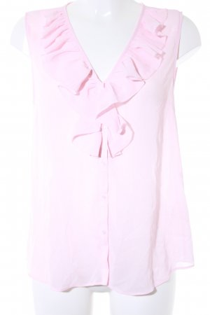 H&M Rüschentop rosa Romantik-Look