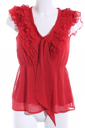 H&M Frill Top red elegant