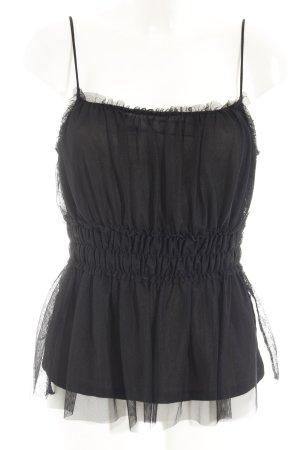 H&M Top met franjes zwart feest stijl
