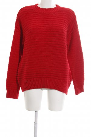H&M Rundhalspullover rot Casual-Look