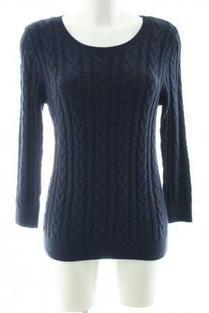 H&M Crewneck Sweater blue cable stitch casual look