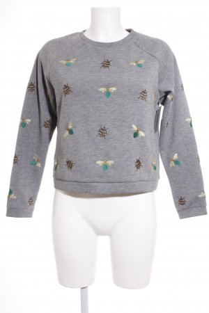 H&M Rundhalspullover Animalmuster Casual-Look