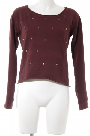 H&M Kraagloze sweater bordeaux casual uitstraling