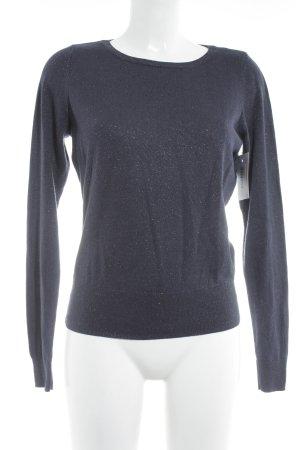 H&M Rundhalspullover dunkelblau Casual-Look