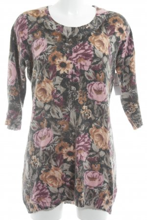 H&M Rundhalspullover florales Muster Casual-Look