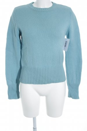 H&M Crewneck Sweater light blue cable stitch simple style