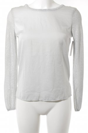 H&M Crewneck Sweater light grey-silver-colored casual look