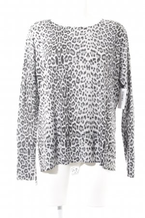 H&M Rundhalspullover Leomuster Casual-Look