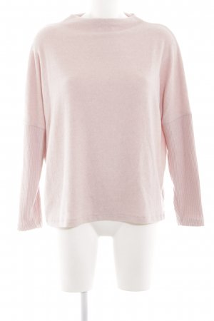 H&M Rundhalspullover pink-creme Casual-Look