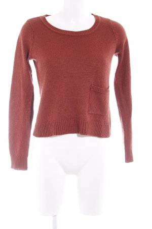 H&M Rundhalspullover rostrot Casual-Look