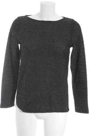 H&M Rundhalspullover schwarz-grau Casual-Look