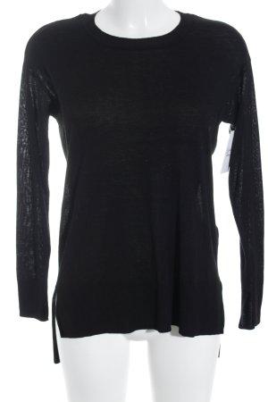 H&M Rundhalspullover schwarz klassischer Stil