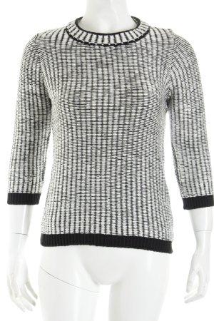 H&M Rundhalspullover schwarz-weiß