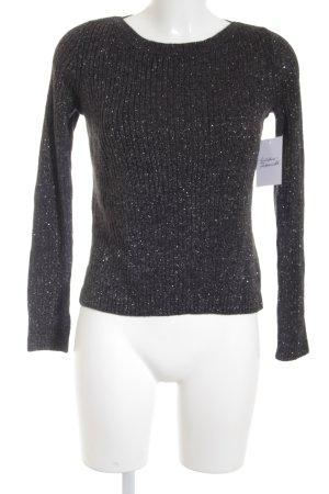 H&M Rundhalspullover silberfarben-grau Casual-Look