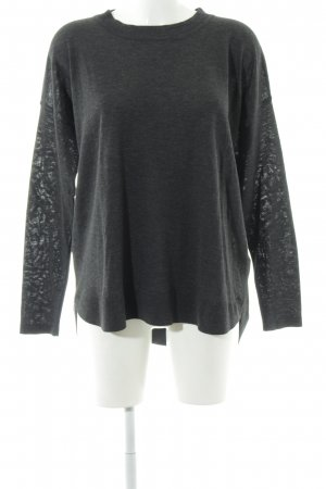 H&M Rundhalspullover taupe Casual-Look