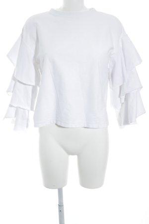 H&M Rundhalspullover weiß Casual-Look